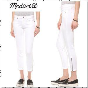 Madewell Skinny Skinny Crop Zip Jeans Pure White